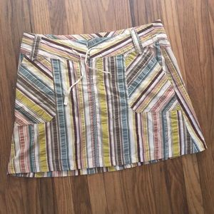 Patagonia a-line gingham striped skirt
